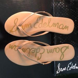 Sam Edelman patent flip flops